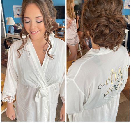 Bridal robe Bride to be Bachelorette Wedding gift idea Bridal shower  #weddingrobe #bridalrobe #briderobe #whiterobe #weddinggift #bachelorette  #LTKSeasonal #LTKunder50 #LTKwedding