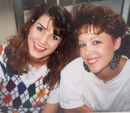 What goes around comes around…friends since 2nd grade—47+ years! Seen here in the 80s wearing padded shoulders and an argyle sweater vest. Hot 2021 fall fashion trends seen way back when and linked similar vests here #fallfashiontrends #longtimefriends #meancarmen #youngshayshay  #LTKunder50 #LTKstyletip