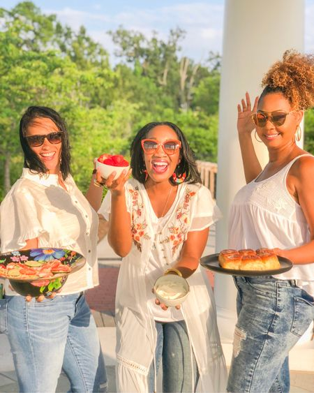 MEET MY BESTIES!!!😁🙌🏽🤟ON MY BLOG TODAY!!! ...& Take away a sweet summer recipe from our kitchens to yours!🍓🥗🍤🍞❣️In hopes that the recipes that we're sharing fill your belly & your soul the way our #Friendship has filled our hearts for over 20 years! #LifetimeFriends 🤗✨ 💌 I sourced each one of our outfits on my blog & in the @liketoknow.it App . .  #liketkit    http://liketk.it/2wnQx   #LTKfamily
