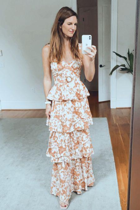 Maxi dress, tiered dress, fall wedding dress  #LTKSeasonal