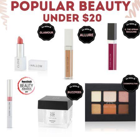 Popular Viral Beauty products under $20. Lippies, concealer, palettes, skin care and more.   #LTKunder50 #LTKbeauty #LTKsalealert