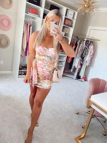 Strapless floral party mini dress from ShowPo Going out dresses Vegas outfit  Birthday dress pink floral   @liketoknow.it http://liketk.it/3hxAz #liketkit #LTKunder100 #LTKstyletip #LTKshoecrush