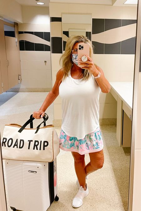See ya Siesta Key!  Girls trip 2021 was so much fun and I hate to say goodbye but it's time to go back to real life.   Comfort wear is a must for me when I travel and I'm headed home this am in the cutest Lilly skirt and lululemon tank.   Lilly's latest drop of colors are so pretty.  http://liketk.it/3hAM8 #liketkit @liketoknow.it