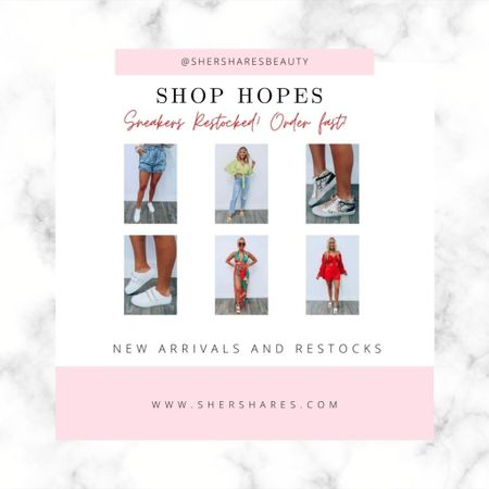 Shop Hopes new arrivals and restocks. Grab the sneakers fast! They just restocked 30 minutes ago and sell FAST!    http://liketk.it/3jXfv #liketkit @liketoknow.it #LTKstyletip #LTKshoecrush @liketoknow.it.home Shop your screenshot of this pic with the LIKEtoKNOW.it shopping app