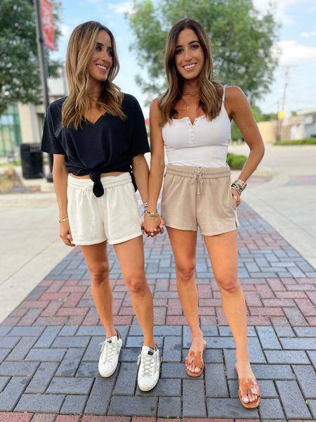 Shorts in xs bodysuit in xs tee in xs golden goose sneakers sandals tts   #LTKstyletip #LTKsalealert #LTKunder100