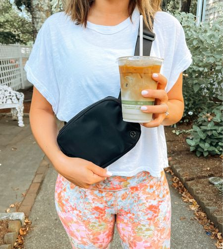 Are you a morning person? We love taking Christian for a walk in the morning to grab some coffee! Leggings on sale & belt bag and T-shirt are under $40 🙌🏼  Follow my shop on the @shop.LTK app to shop this post and get my exclusive app-only content!  #LTKunder100 #LTKsalealert #LTKunder50