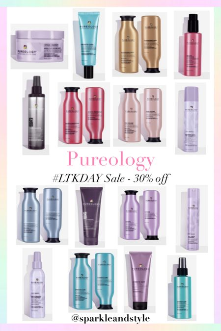 LTK Day Sale: Pureology - 30% off    http://liketk.it/3hyZP @liketoknow.it #liketkit #LTKDay #LTKbeauty #LTKsalealert   Haircare, hair car products, hair styling products, shampoo and conditioner, hair sprays, hair treatments, hair mask, leave in treatments, smoothing serum, sugar hair spray, texture hair paste, leave in split end treatment