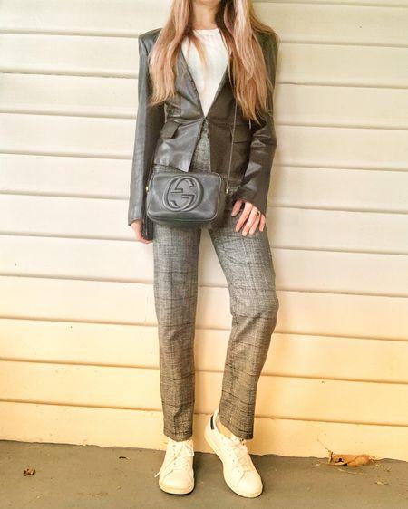 Gucci blazer and bag, pants birdseye/check, Stan smith sneakers, similar and exact products linked     http://liketk.it/3hAkC #liketkit @liketoknow.it #LTKworkwear #LTKshoecrush #LTKstyletip @liketoknow.it.europe @liketoknow.it.australia