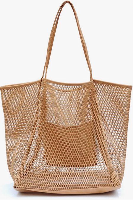 Mesh beach bag. Amazon $24 http://liketk.it/3irl9 #liketkit @liketoknow.it #LTKswim #LTKunder50