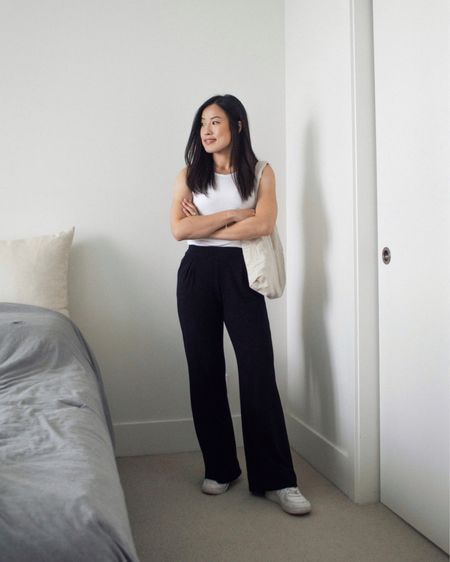 Another favourite outfit as of late. The key is simplicity. White tank + wide leg pants + white sneakers 🤍  #LTKstyletip #LTKunder50 #LTKSeasonal
