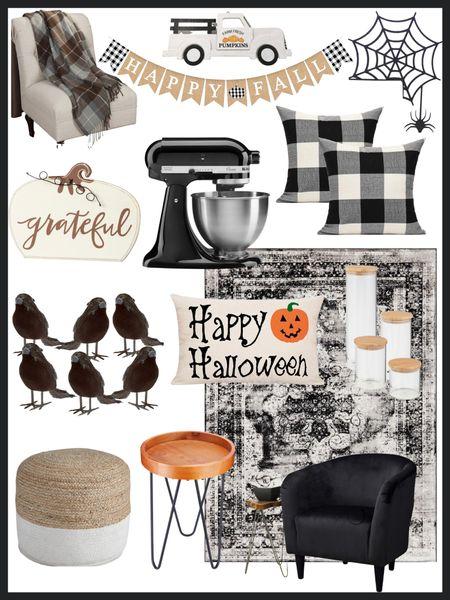 Walmart finds - Walmart home decor             Walmart finds , home decor , Walmart home decor , Halloween , Halloween decor , fall decor , living room decor , kitchen decor , pillows , black and white decor #ltkunder50 #ltkunder100 #ltkstyletip   #LTKSeasonal #LTKHoliday #LTKhome