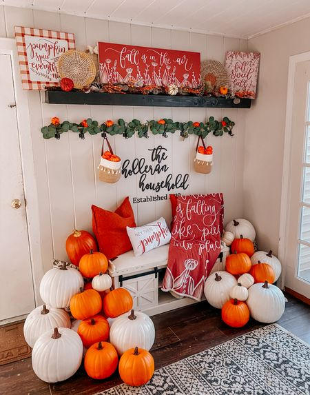 It is the most perfect fall day out today! 😍 I can't wait to get outside and enjoy this beautiful weather 🥰 what is your favorite fall activity?! 🍂  Fall canvases & blanket are available on detailsandswirls.com, and everything else is linked in LIKEtoKNOW.it. 🧡    #falldecor #seasonaldecor #fallfashion #falloutfits #falldecorating #modernfarmhouse #falldecoratingideas #fallfashiontrends #fallfashion2021 #entrywaydecor #entrywaybench #entrywaytable   #LTKSeasonal #LTKhome