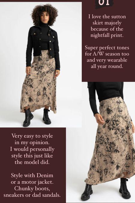 Midi skirt style   #LTKstyletip #LTKunder50 #LTKeurope