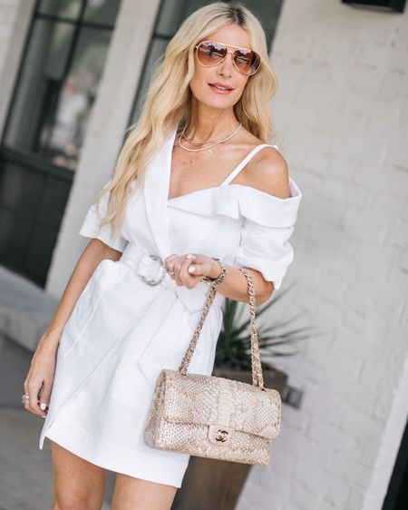 How chic is this white summer dress - it runs tts I'm wearing a 0 @liketoknow.it #liketkit http://liketk.it/3heSY #LTKunder100 #LTKstyletip #LTKunder50