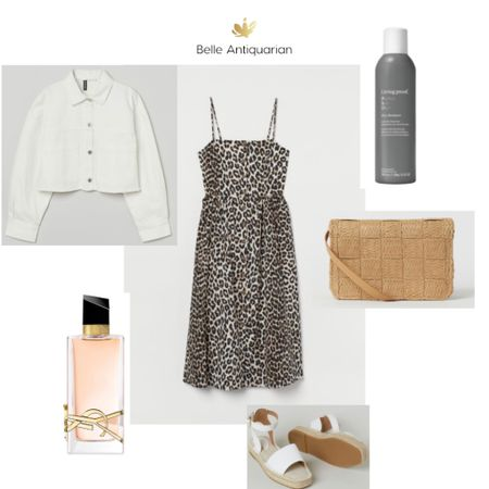 Fun, casual summer dress outfit. The jacket is cropped, but a little oversized. Size up or down according to your taste. I'm including two of my favorites: this perfume and dry shampoo.  Have a fabulous Friday! Follow me on LIKEtoKNOW.it for more deals and dupes! @BelleAntiquarian   #LTKunder50 #LTKcurves #LTKstyletip