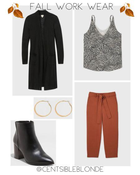 Fall work outfit, Fall look. Rust work pants   http://liketk.it/30f6s #liketkit @liketoknow.it #LTKunder50 #LTKworkwear #LTKshoecrush
