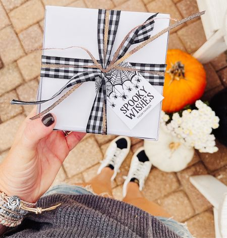 """Sending out some spooky wishes today! On the blog sharing these quick and inexpensive """"boo box"""" gifts for less than $5! 🧡🎃  #LTKSeasonal #LTKhome #LTKstyletip"""