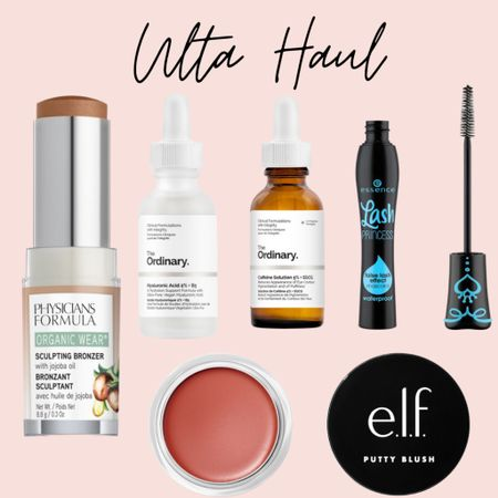 I had a little Ulta haul and this is what I got, a bronzer stick, hyaluronic acid, caffeine serum, my favorite drugstore mascara and putty blush, this is supposed to be a dupe for the fenty blush http://liketk.it/3aca9 #liketkit @liketoknow.it #LTKsalealert #LTKshoecrush #LTKbeauty
