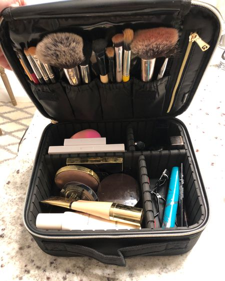 Great customizable makeup bag under $20! It fits most of my everyday makeup and I still have more room.  #makeupbag #giftsunder20 #giftideas #makeup http://liketk.it/2YWXG #liketkit @liketoknow.it You can instantly shop my looks by following me on the LIKEtoKNOW.it shopping app