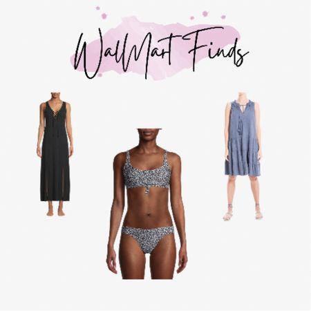 Walmart finds! Jersey dress, leopards bikini swimsuit top / bottoms and bikini cover up!  http://liketk.it/3g2SO #liketkit @liketoknow.it #LTKunder50 #LTKswim #LTKsalealert