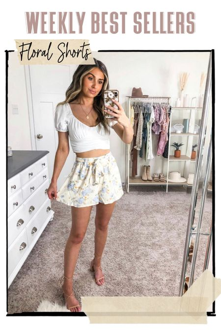 Weekly best sellers 🤍 floral shorts from forever 21! Under $20, true to size and super comfy. Wearing a small http://liketk.it/3g31v #liketkit @liketoknow.it #LTKunder50 #LTKstyletip #LTKsalealert