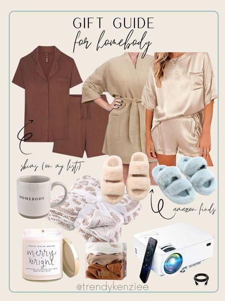 gift guide for the homebody / amazon finds / pajamas / slippers / movie night / amazon   #LTKGiftGuide #LTKSeasonal #LTKHoliday