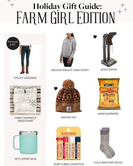 Where are my farm girls at?! This gift guide was created with you in mind! Share with someone who needs a hint of what to stock under this years tree for you 😉 Shop your screenshot of this pic with the LIKEtoKNOW.it shopping app #LTKgiftspo #LTKworkwear http://liketk.it/31Ztf #liketkit @liketoknow.it