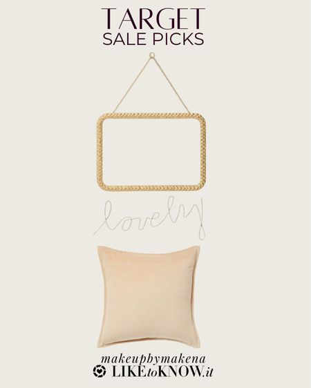 http://liketk.it/3gtFQ #liketkit @liketoknow.it #LTKsalealert #LTKunder50   Target home decor picks from the Memorial Day sale, including this mirror and throw pillow