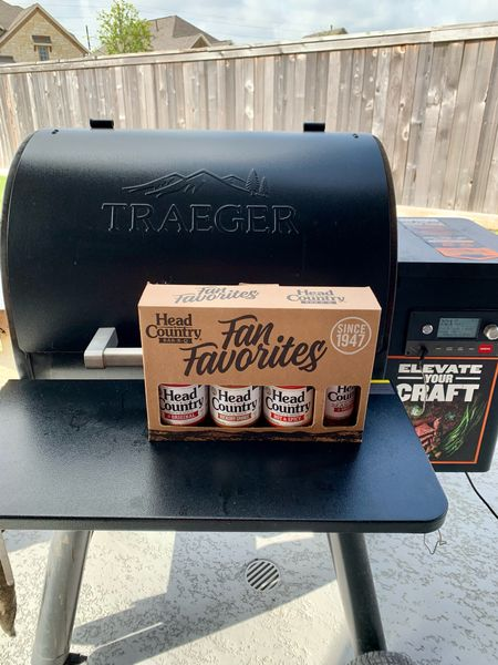 Tried a new BBQ sauce, Head Country. So good. This kit includes BBQ sauce and seasoning. Perfect for a day of grilling. #BBQ #Grilling #GrillingSeason #Tailgating #FootballSeason   #LTKSeasonal #LTKhome