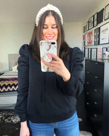Puff Sleeved Sweatshirt $98 ❤️// http://liketk.it/3d1pO #liketkit @liketoknow.it