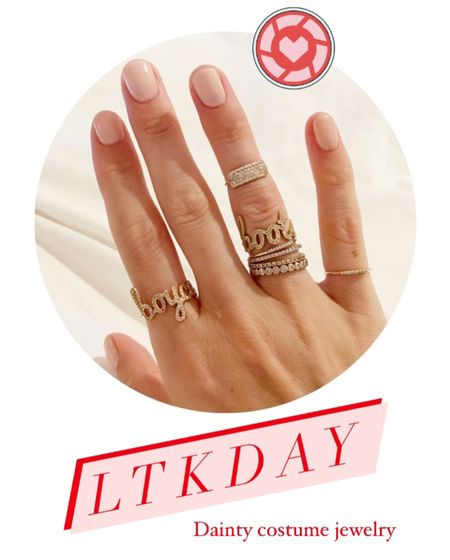 I love dainty jewelry- I wear it ever day. These pieces on LTKDAY are costume but look like the real deal!   #LTKDay #LTKsalealert #LTKunder50
