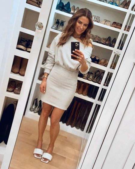 It's here I know you know by now #NSALE TOP PICKS all on the blog (shop best sellers & much more)🤍🤍   + this super comfy fav dress of mine is on sale as well in white (I own both the white just bought the grey bc it's just that good)  Head to www.streetstylesquad.com for all the details on my sale picks OR shop this look & my sale picks with @liketoknow.it http://liketk.it/3jMcL #LTKsalealert #LTKshoecrush #LTKworkwear #liketkit
