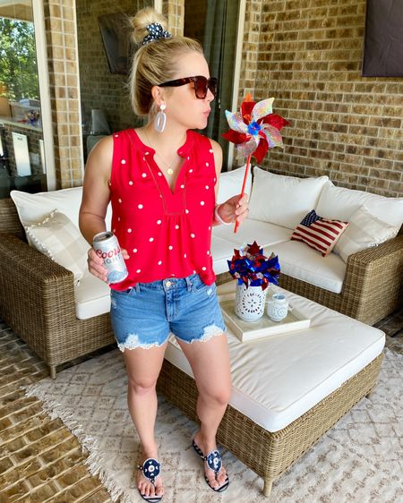 'Murica, but make it cute. 🇺🇸 I hope your mountains are blue, your pools inflated, and your steaks medium-rare! Cheers to this Memorial Day Weekend, y'all! ❤️🤍💙   http://liketk.it/3gq2r #liketkit @liketoknow.it #LTKunder50 #LTKshoecrush #LTKunder100   Download the LIKEtoKNOW.it shopping app to shop this pic via screenshot