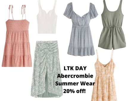 #liketkit http://liketk.it/3hg2E @liketoknow.it #LTKDay #LTKsalealert #LTKunder50  Summer Dresses, skirts, and rompers are always a good idea 🙌🏼🙌🏼  Linked up some cute options from Abercrombie.  Comes in other colors and sizes as well.  Get 20% off in app purchases!  Sale ends June 13th.  Code: LTKAF2021  Price ranges: $39-$69