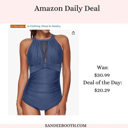 Amazon daily deal swimsuit edition! Grab this gorgeous one piece for 35% off!   #LTKSeasonal #LTKunder50 #LTKsalealert