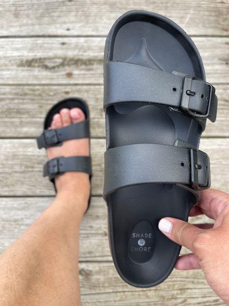 Target black slide sandals. Super comfy & a great dupe for Birks!   http://liketk.it/3gmYe #liketkit @liketoknow.it      #LTKshoecrush #LTKstyletip #LTKunder50