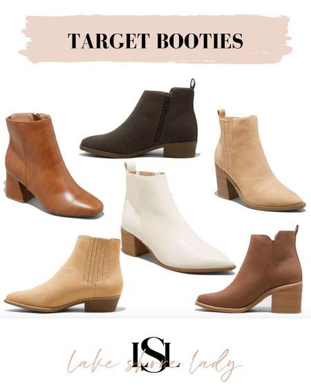 Target booties, affordable booties, ankle boots   #LTKunder100 #LTKSeasonal #LTKunder50