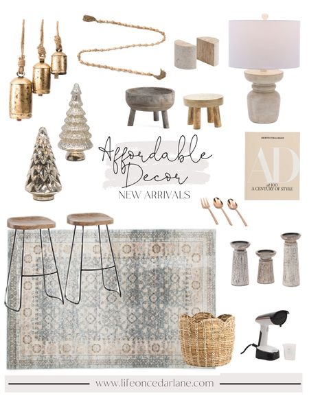 Affordable decor for your living room, bedroom and more! Snag these new arrivals before they sell out!! I absolutely love the hanging holiday bells!!  #affordabledecor #falldecor #livingroomdecor   #LTKSeasonal #LTKhome #LTKHoliday