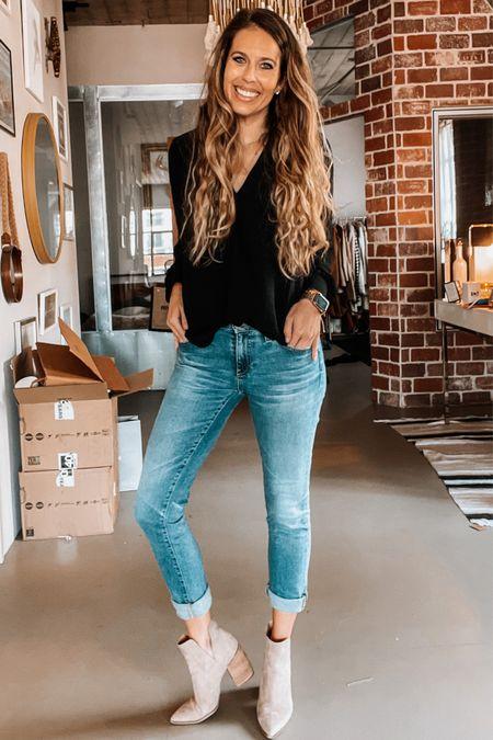 Nsale, Nordstrom sale, sale booties, jeans, blouse, anniversary sale   #LTKunder50 #LTKsalealert #LTKshoecrush