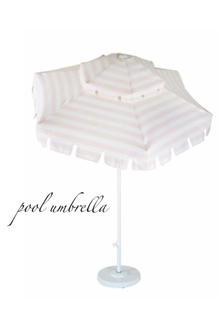 one of my favorite finds for this summer!  Got this pink and white striped umbrella for our pool sun ledge. Also linking our pool basketball goal and pink pool/ garden hose.   #LTKswim #LTKhome #LTKstyletip