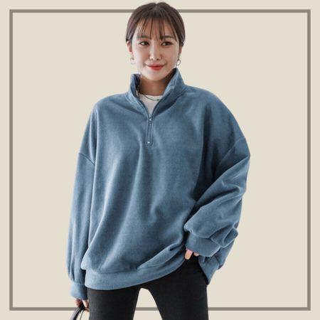 Half zip oversized sweater   #LTKstyletip #LTKunder50