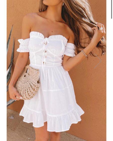 Mykonos dress, white dress, Caitlin Covington x pink Lily Collab http://liketk.it/39Mw3 #liketkit @liketoknow.it #LTKunder100