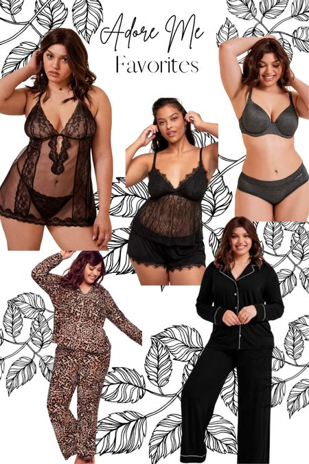 I love me some lingerie and sleepwear! These pieces from Adore Me are wonderful! Feel amazing on my body and I look so bomb. A few of the sleep wear pieces are on sale too!   #LTKsalealert #LTKcurves #LTKunder50