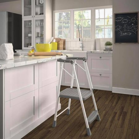 Need a kitchen helper but don't really have the space or the money to pay $100+? This step stool is a great alternative! Safer for kids because it has the bar to lean on, it folds flat to put away, and it's only $35! #LTKkids #LTKfamily #kitchen http://liketk.it/3a9ZL #liketkit @liketoknow.it