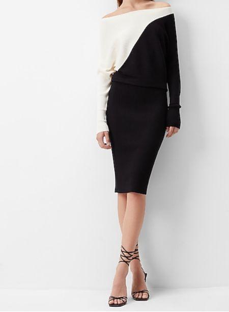 Off the Shoulder Sweater Dress On Sale  #LTKSale #LTKsalealert #LTKstyletip