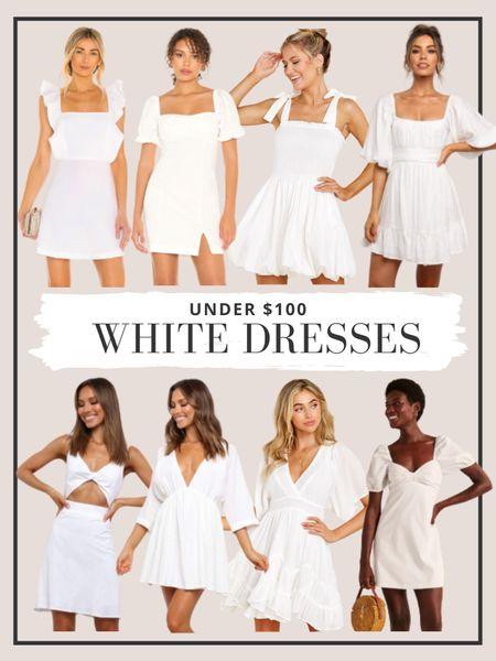 The cutest white dresses under $100! http://liketk.it/3g2tK #liketkit @liketoknow.it #minidresses #whitedresses