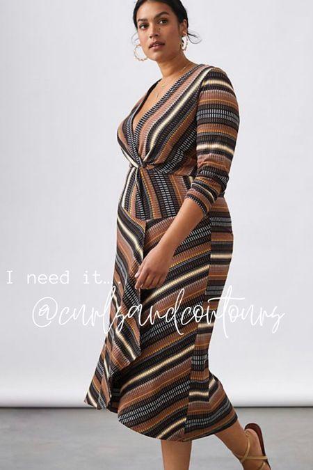 Chic plus size fall dress from Anthropologie.   #LTKcurves #LTKstyletip #LTKSeasonal