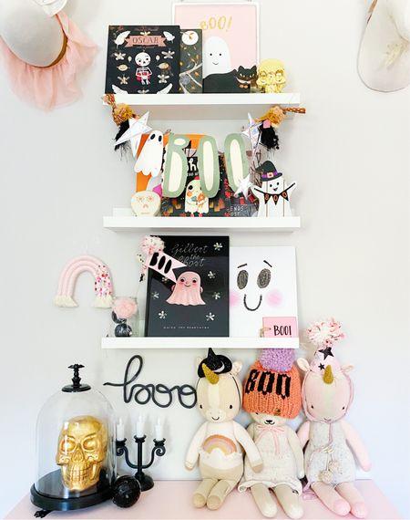 Halloween books, Halloween decor, pink Halloween, target finds, Halloween garlands   #LTKHoliday #LTKSeasonal #LTKkids