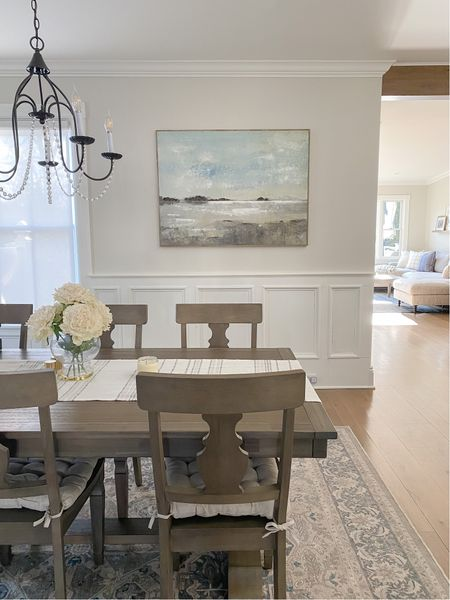 I love using wall art to tie my home's color pallet together! My abstract landscape wall art is no longer available but I've linked a few similar options!           #LTKhome #StayHomeWithLTK