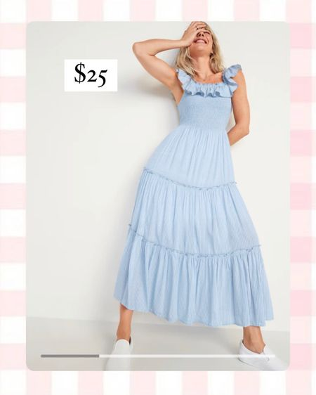 Old Navy blue stripe maxi dress. Perfect for Easter! http://liketk.it/3aWUu @liketoknow.it #liketkit #LTKunder50 #LTKsalealert  #LTKSpringSale